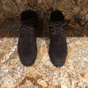 Bandolino Brown suede lace up ankle shoes Sz 8 1/2